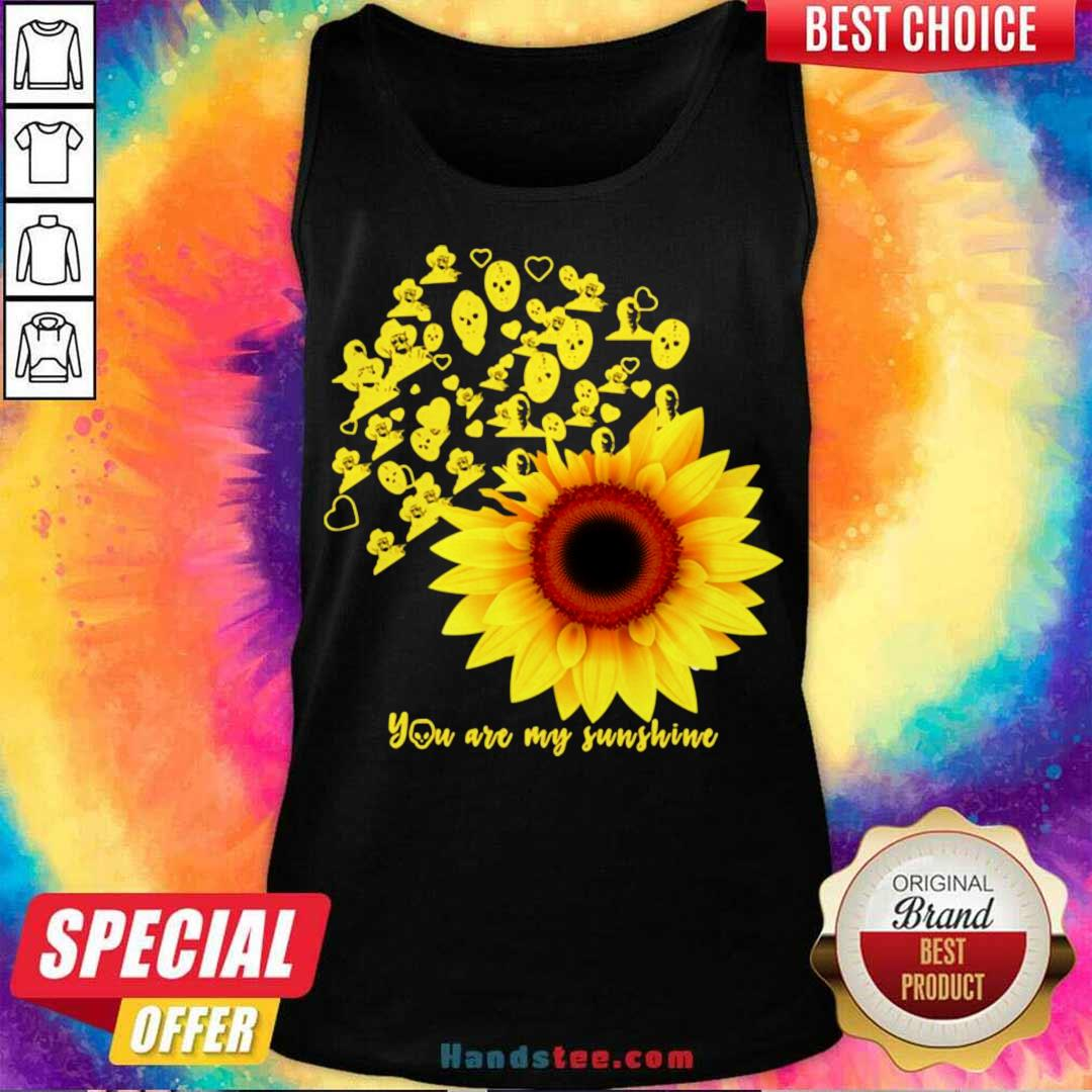 Horror Character Sunflower You Are My Sunshine Tank-Top- Design By Handstee.com