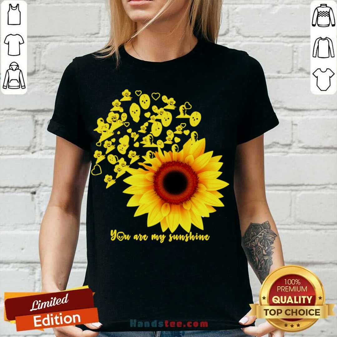 Horror Character Sunflower You Are My Sunshine V-neck- Design By Handstee.com