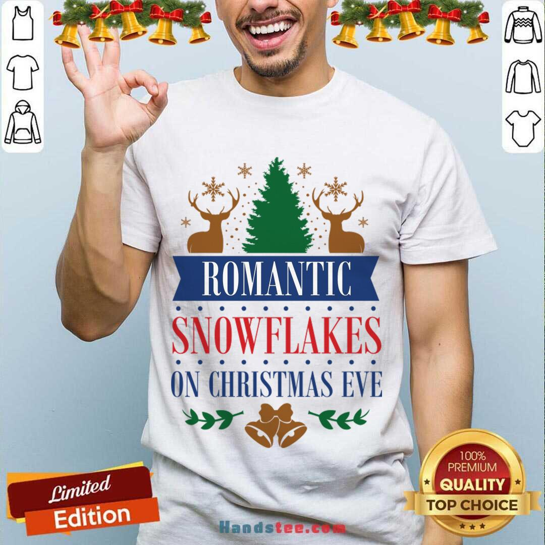 Romantic Snowflakes On Christmas Eve Shirt- Design By Handstee.com